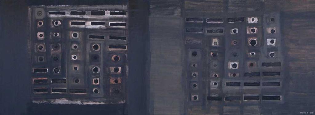 12_Zvok zapis slika_Zacetek in nov zacetek_mesana tehnika (560 x 215 cm)_Breda Sturm