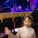 Hči na koncertnem krstu